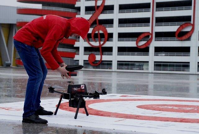 A1 с приложение на 5G за управление на дрон